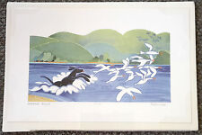 "Alaskan Artist Rie Munoz ""Chasing Gulls"" Limited Edition Print"