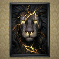 5D DIY Lion Animal Diamant Peinture Point de Croix Broderie Kit Décor Maison