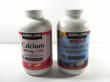 *2 PACK* Kirkland Signature Calcium 600 mg and Glucosamine with 1500 mg MSM 375