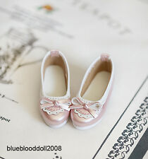1/3 bjd SD13/16 girl doll glossy pink flat shoes dollfie dream Luts SDF ship US