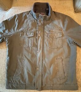 Levi Strauss Olive Quilted Trucker Jacket size Large