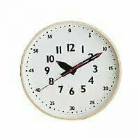 Lemnos M Fun Pun Clock Lemnos Wall Clock White New from Japan size: width 30.5