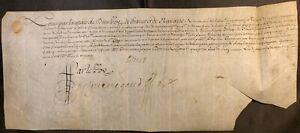 KING LOUIS XIV AUTOGRAPH ON PARCHMENT SIGNED JUNE 15, 1650 König von Frankreich