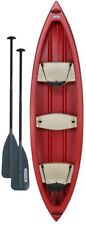 Lifetime Kodiak Canoe 13 ft in Red 2 paddles Boating Cup Holder Red Outdoor