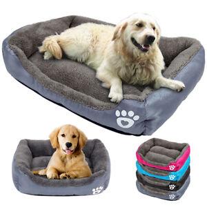 Pet Dog Cat Warm Plush Calming Bed Nest Comfy Sleeping Mat Cave Lodge Fleece