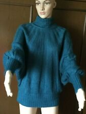 Mohair sweater OPTIQUE Woman, green pine color, size L  Maglione di mohair Donna