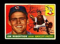 1955 TOPPS JIM ROBERTSON #177 ATHLETICS SIGNED AUTOGRAPH PERIOD TOUGH