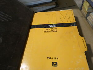 JOHN DEERE JD770 MOTOR GRADER TECHNICAL MANUAL TM-1123