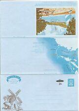Antigua 1978 Windmill Illustrated, Overprinted  Aerogramme. Postally Unused