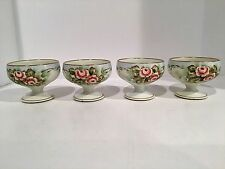 SET OF 4 HAND PAINTED LIMOGES PUNCH CUPS FRANCE