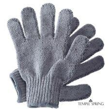 Temple Spring Bamboo Exfoliating Wash Gloves, Bath Exfoliator Mitt, Scrub, Body