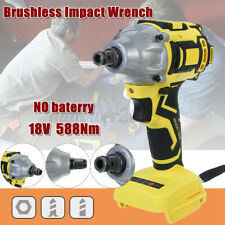 """18V Brushless Electric Cordless Impact Wrench Driver Screwdriver 1/2"""" Chunk"""