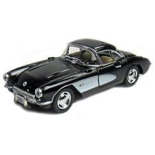 New Kinsmart 1957 Chevrolet Corvette Chevy Diecast Model Toy Car 1:34 Black