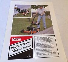 VICTA Mowers Grasscutters Professional 460 Original 1980s Sales Brochure