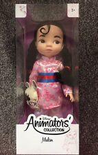1st Edición Disney Animators's Collection Mulan Muñeca-Primera Edición Nuevo Y En Caja
