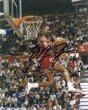 **Michael Jordan**  Chicago Bull SLAM DUNK Autographed 8x10 Photo (RP)