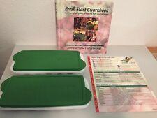 Fresh Baby Food System 2 Freezer Storage Trays & Cworkbook Cookbook Vguc
