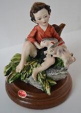 Vintage Capodimonte figurine Giuseppe Armani BOY WITH Rabbit Bunny Easter