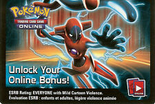 POKEMON ONLINE CODE CARD FROM THE FALL 2013 DEOXYS TIN