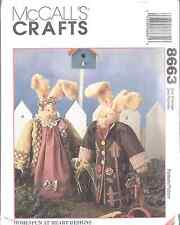 "8663 UNCUT McCalls SEWING CRAFT Pattern 14"" Sweet Basil Herb Bunnies Rabbits OOP"
