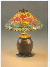 TIFFANY LAMP ORANGE RED POPPY ON POSTCARD  (TL7*)