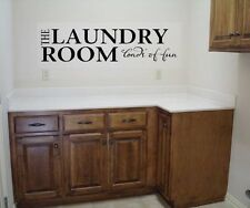 THE LAUNDRY ROOM...LOADS OF FUN WALL QUOTE DECAL VINYL WORDS