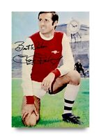 George Graham Signed 6x4 Photo Arsenal Gunners Scotland Genuine Autograph + COA