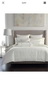 Hotel Collection Plume Textured White King Duvet Cover+4Pillow Shams-Brand New