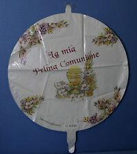 """PALLONCINO PRIMA COMUNIONE GENERICO JHS 18"""" 45 cm diametro MYLAR FOIL FESTA"""