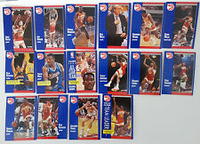 1991-92 Fleer Atlanta Hawks Team Set Of 16 Basketball Cards