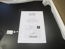 Home Decorators Collection 21730-05210 Baxter Double Unit Closet Shelves Black