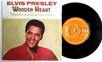 """Near Mint Elvis Presley WOODEN HEART (RCA 2700) 7"""" VINYL 45 P/S"""