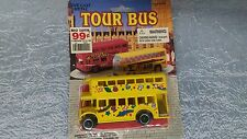 Diecast Tour Bus, Double Decker Yellow, Midwestern Home Products