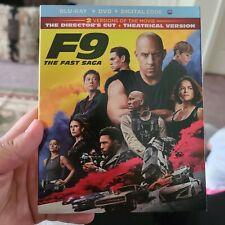 F9: The Fast Saga Director's Cut [Blu-ray + Dvd Nodigital] Vin Diesel W/ Slip