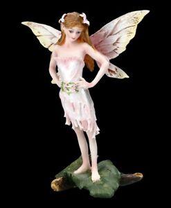 Elfen Figur - Rosalie in rosa Kleid - Fantasy Fee Blumenelfe Dekostatue