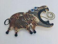 Cynthia Chuang Vintage Ceramic Figural Hippo Pin