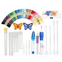 1X(DIY Stickerei Stift Stricken NäHen Werkzeug Kit Punch Nadel Set mit 50X J2O3