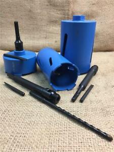 CLEARANCE LOT DIAMOND CORE DRILL BITS SDS & HEX FITTINGS LONG SHORT 32 TO 152 mm