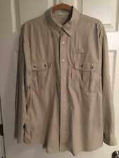 Orvis Button-Down Fishing Casting Shirt 4 Pocket Outdoor Mens Size XL