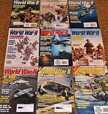 Original WW2 Magazines dated 1997-2004 Lot of 9,German US Army Uniform,Insignia