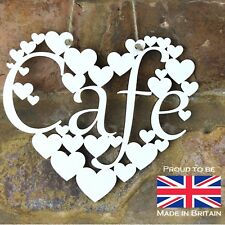 Cafe White Love wall hanging heart decoration Birthday gift shabby chic sign