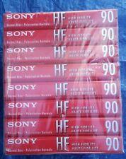 New X8 Sony HF 90 ~ Normal Bias Type I High Fidelity Audio Cassette Tape Freeshp
