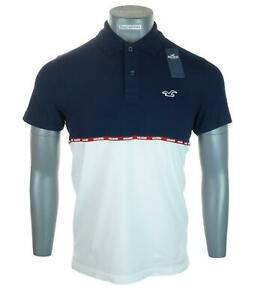 New Men's Hollister Advanced Stretch Polo Shirt Short Sleeve Embroidered M L XL