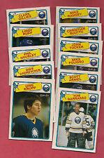1988-89 OPC BUFFALO SABRES  NRMT CARD LOT  (BARRASSO + KRUPP RC )