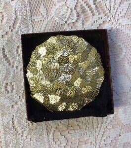 Vintage Stratton Ladies Gold Colour Convertible Compact. NIB. Made In England