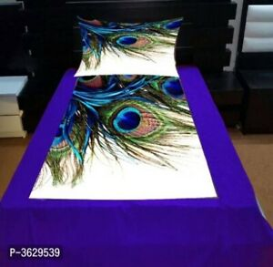 Cotton single Bedsheet Size:Free Size(Length - 95.0 inches)(Width-85) pack-3