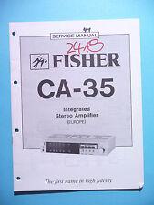 Service Manual-Anleitung für Fisher CA-35  ,ORIGINAL