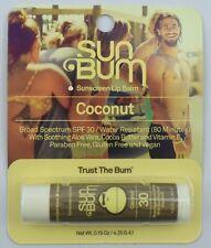 NEW Sun Bum SPF 30 Lip Balm,  Coconut, Free Shipping