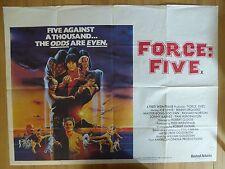 FORCE FIVE (1981) - original UK quad film/movie poster, kung fu, martial arts