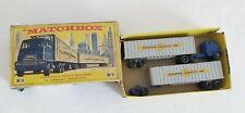 Vintage Matchbox moko lesney M 9 Inter State Double Freighter Cooper jarrett
